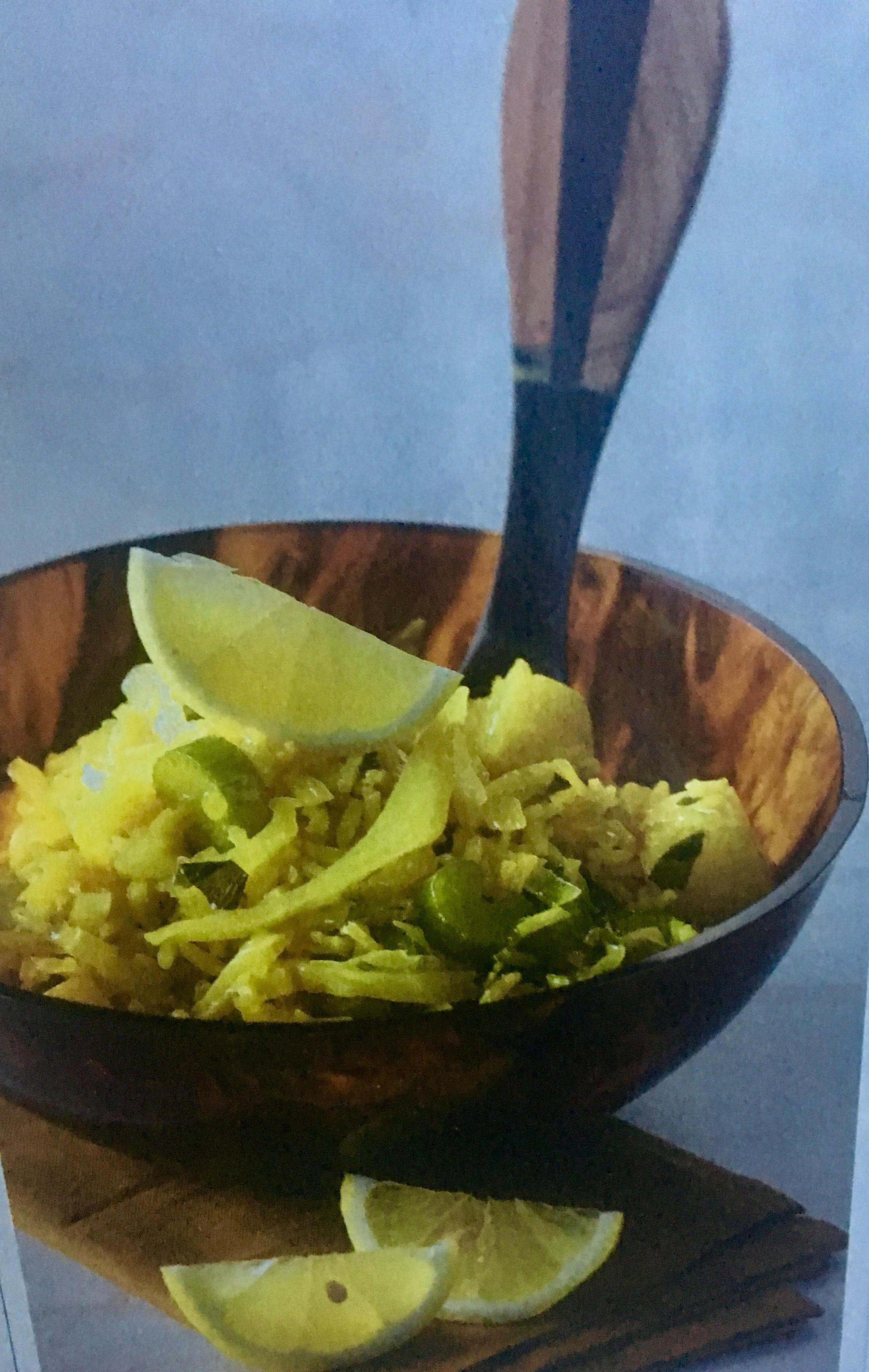 Λαχανόρυζο λεμονάτο με σελινόριζα, σέλερι και κουρκουμά