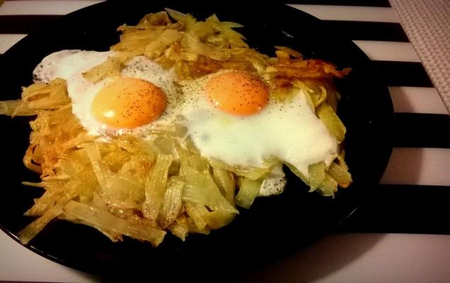 Τηγανίτες πατάτας με αυγά