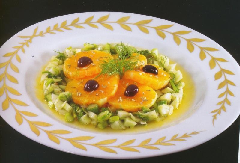 Σαλάτα με φινόκιο και πορτοκάλια