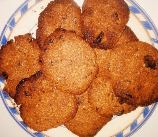 Chocolate cookies βουτύρου βρώμης